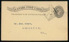 Mayfairstamps Canada 1895 Brockville to Armadele On Qv Stationery Card wwh90371