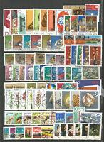 DDR  1976   gestempelt  kompletter Jahrgang  Super-Stempel + Einzelmarken