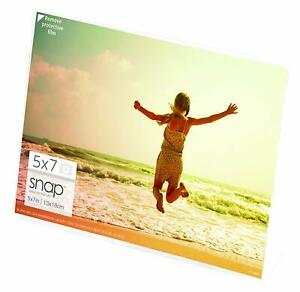 SNAP 7x5 Clear Acrylic Self Standing Frame