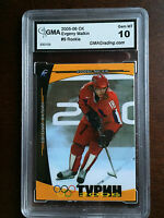 Evgeni Malkin 2005 Turin Olympics Russian Rookie Card 500 Made RC Gem Mint 10