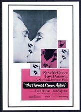 111 CARTE POSTALE film L'AFFAIRE THOMAS CROWN de Norman Jewison - Steve Mc Queen