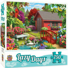 Masterpieces LAZY DAYS Over The Bridge 750 piece jigsaw puzzle NEW IN BOX