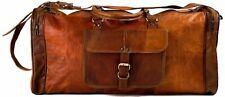 Bag Leather Duffle Travel Men Gym Luggage Genuine Overnight Mens Vintage Duffel