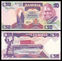 ZAMBIA 50 Kwacha, 1986-88, P-28, UNC World Currency