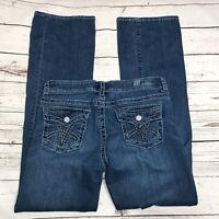 Kut From The Kloth Womens Bootcut Jeans SZ 8 Medium Wash Flap Pockets Midrise