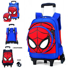Spiderman Backpack Trolley Bag Rolling Suitcase Luggage for Boys Kids Gifts