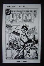 Original Production Art UNKNOWN SOLDIER #253 cover, JOE KUBERT art