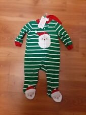 Carters Christmas long sleeve Santa Claus Pajamas with Hat New size 3 months