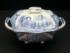 Johnson Brothers Old Britain Castles Blue Sugar Bowl & Lid