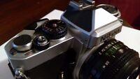 Vintage Nikon Model FE 35mm SLR Film Camera Silver.№FE 3055588