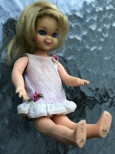 VINTAGE MATTEL BLONDE TUTTI DOLL WITH 1 TAGGED DRESS Bendable