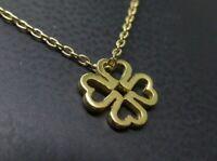 SIX Anhänger Halskette 925 SILBER silver vergoldet Herz KLEEBLATT Glücksbringer