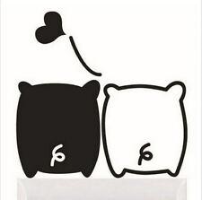 FD1261 Black White Piglet Lover Light Funny Wall Decal Vinyl Stickers DIY *1pcs