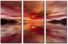 3 panel Total 120x80cm Large ABSTRACT  ART CANVAS  DIGITAL DUSK
