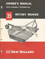 NEW HOLLAND 35 ROTARY MOWER OWNERS MANUAL WITH ASSEMBLY INFORMATION