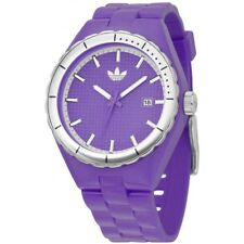 ADIDAS MED PURPLE+SILVER WATCH+DATE CAMBRIDGE ADH2040