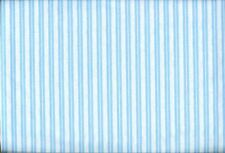 2 Yds (1 yd each) of Blue Striped and White with Blue Poka Dots Quiltlng Fabric