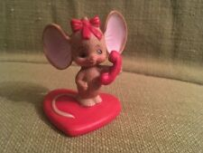 Lefton Figurine. Mouse On Phone. On Heartbase