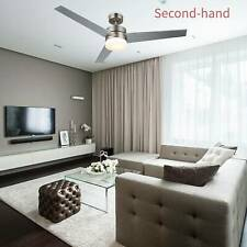"""Secondhand 52""""Ceiling Fan Light w/ 18W LED Light & Remote Control"""