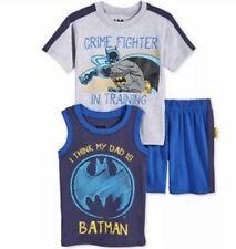 Nannette Little Boys' 3-Pc Batman Tank, T-Shirt & Shorts Set Size 2T