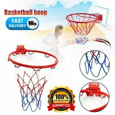 12.6In Hanging Basketball Hoop Wall Mounted Goal Net Rim Sports In/Outdoor Xmas