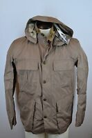 NWT Barbour Thurso Brown Waterproof Hooded Mens Jacket Sz Medium
