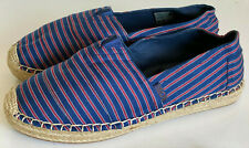 NEW SKECHERS BOBS LOWLIGHTS WATER FRONT NAVY RED ESPADRILLE SANDALS SHOES 7.5 38
