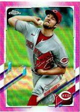 2021 Topps Chrome - Trevor Bauer PINK REFRACTOR (#77) Dodgers (Cincinnati Reds)