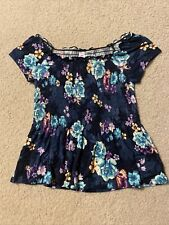 NWT Girls Justice Blue Floral top size 12