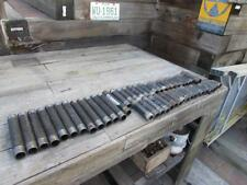 """Mixed lot of 48 used 1"""" black steel nipple fitting ranging from 2-1/2"""" - 8"""" long"""