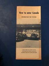 JB741 1954  immigration How To Enter Canada Pamphlet rare