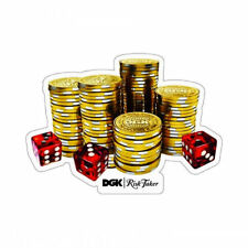 DGK RISK TAKER STICKER Dirty Ghetto Kids Casino Poker Chip Dice Skateboard Decal