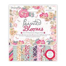 Dovecraft Pintado Flores muestra de 12 X 6 X 6 Cojín de papel FSCS para Tarjetas y Manualidades