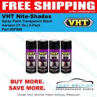 VHT Nite-Shades Spray Paint Transparent Black Aerosol SP999 (11 Oz.) 4-Pack