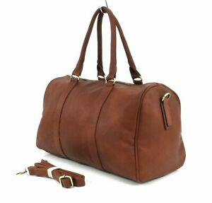 Large Leather Style Holdall Luggage Weekend Duffel Travel Overnight Gym Bag BR