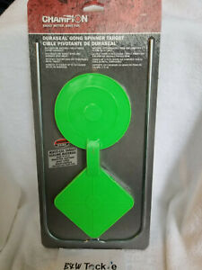"""Champion DuraSeal Double Spinner 7"""" Radiation Green Shooting Target free S&H"""