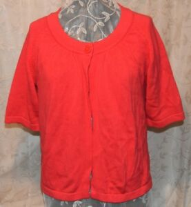 WESTBOUND SO PRETTY XL ONE BUTTON 3/4 SLEEVE TOPPER SWEATER DEEP RED NWOT