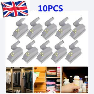 10Pcs LED Sensor Hinge Light for Home Kitchen Cabinet Cupboard Closet Wardrobe