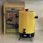 Vintage MCM EMPIRE Coffee Maker Urn 32 Cup Harvest Gold In Original Box