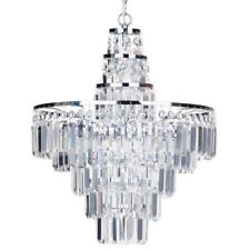 4 Light Large Crystal Bar IP44 Rated Bathroom Chandelier Light Litecraft