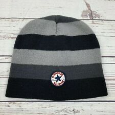Boys Converse All Star Chuck Taylor Snow Hat Beanie Black Gray Youth Child  M5 8630f7bff4b