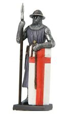 "4.5"" Armored Soldier w/ Spear Knight Medieval Times Statue Figurine Figure"