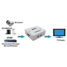 Neu Zusammengesetzt HDMI1.3 auf RCA Audio Video AV CVBS Adapter Konverter HD TV