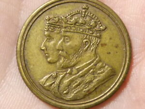 EDWARD VII Married 1863 - Crowned 1902 Brass Medal  #R75
