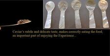 5 pieces 8cm handmade coloured MOTHER OF PEARL spoon SALT MUSTARD CAVIAR herb