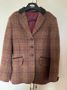 """Tweed Brown Show Jacket By Pretty Ponies 26"""" Chest"""