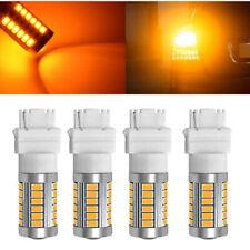 4pcs Amber 3157 3057 3156 LED Bulb 33SMD Yellow Reverse Lamp Turn Backup Light