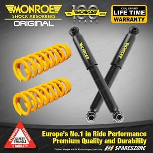 Rear Standard Monroe Shock Absorbers King Springs for HOLDEN ASTRA TS SRi Hatch