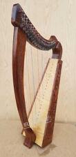 22 Strings Rosewood Celtic Irish Harp Carrying Case & Tuning Key
