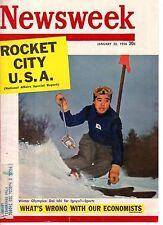 1956 Newsweek January 30 - Olympics; General Motors' 5 Futuristic cars;C Stengel